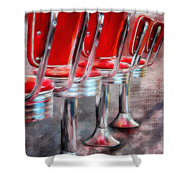 Counter Seating Available Shower Curtain
