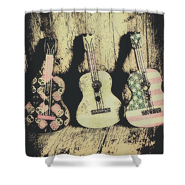 Country And Western Saloon Songs Shower Curtain
