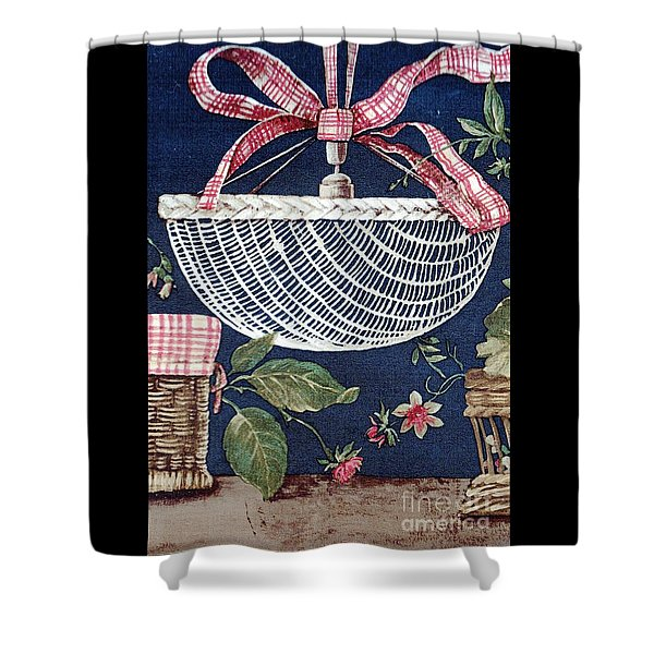 Country Basket Shower Curtain