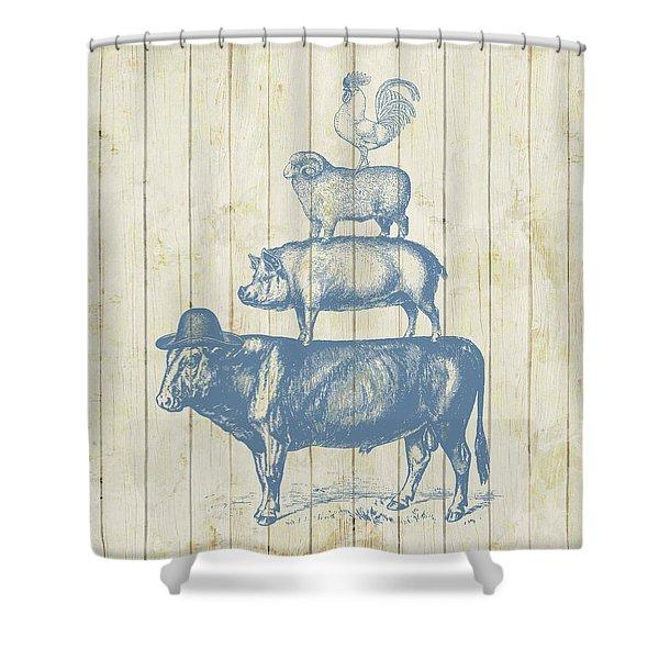 Country Farm Friends Shower Curtain