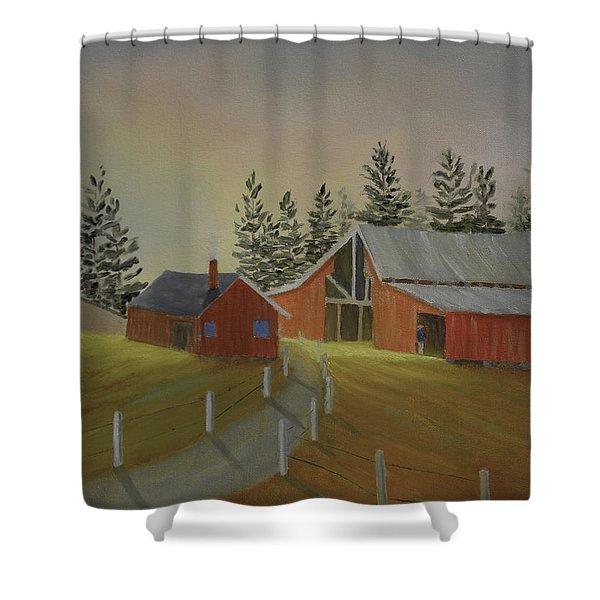 Country Farm Shower Curtain