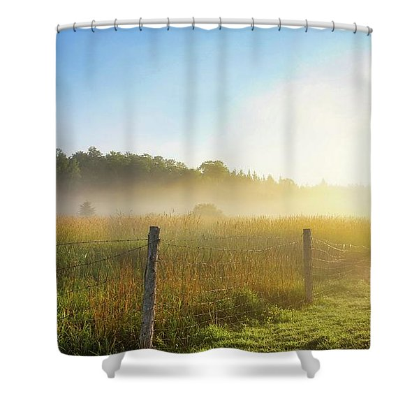 Country Fencerow Shower Curtain