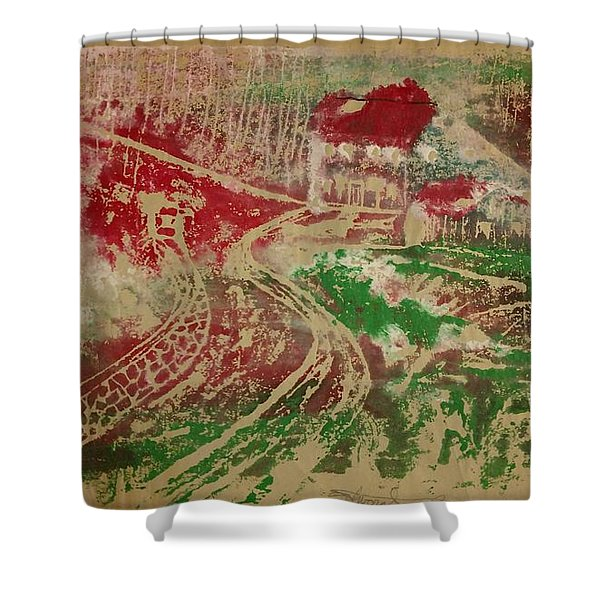 Country Home With Cottage Shower Curtain