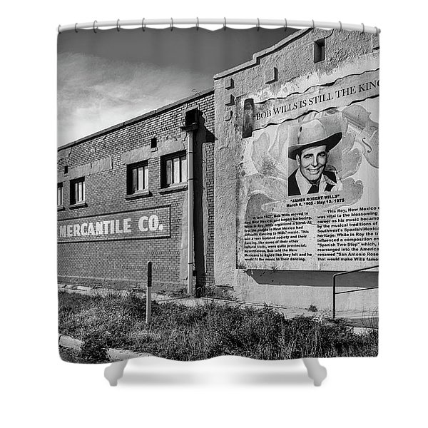 Country Legend Bob Wills In Roy New Mexico Shower Curtain