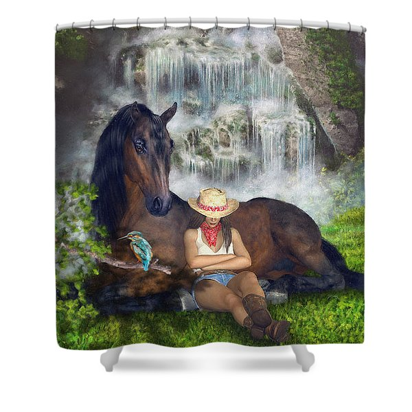 Country Memories 1 Shower Curtain
