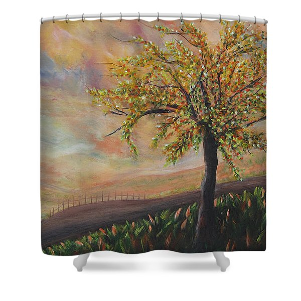 Country Morn Shower Curtain