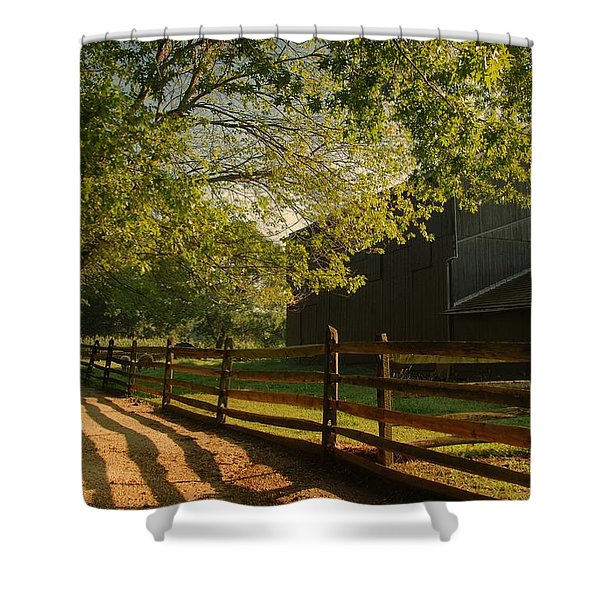 Country Morning - Holmdel Park Shower Curtain