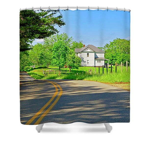 Country Roads Of America, Smith Mountain Lake, Va. Shower Curtain