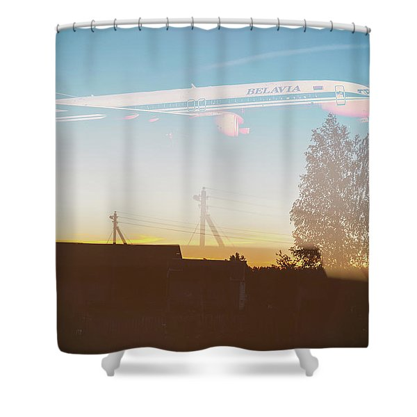 Countryside Boeing Shower Curtain