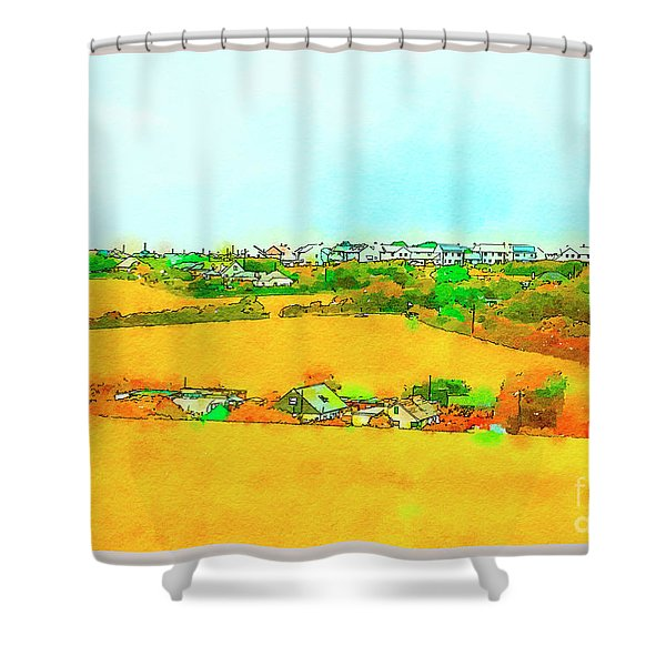countryside  in Cornwall, UK Shower Curtain