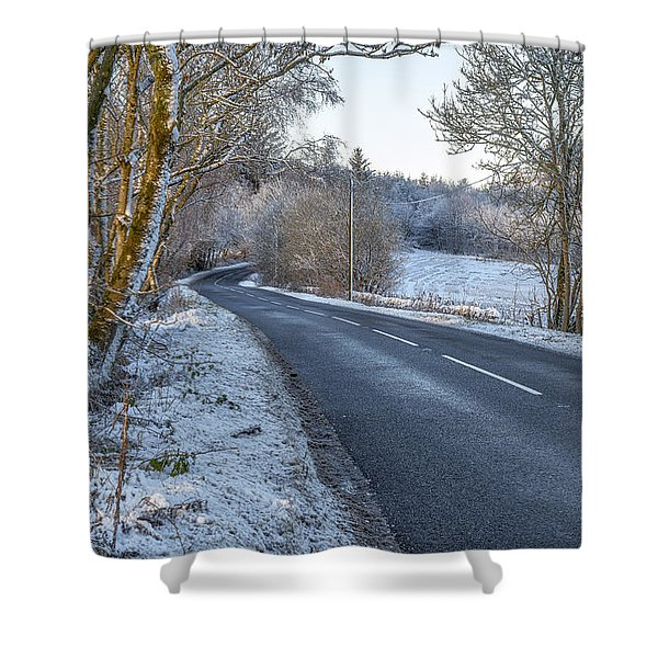 Countryside Road In Central Scotland Shower Curtain