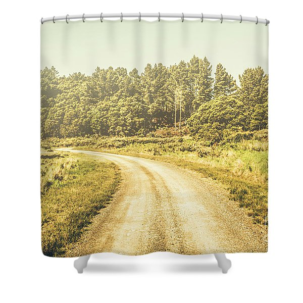 Countryside Road In Outback Australia Shower Curtain