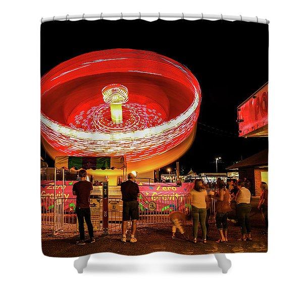 County Fair Long Exposure Shower Curtain