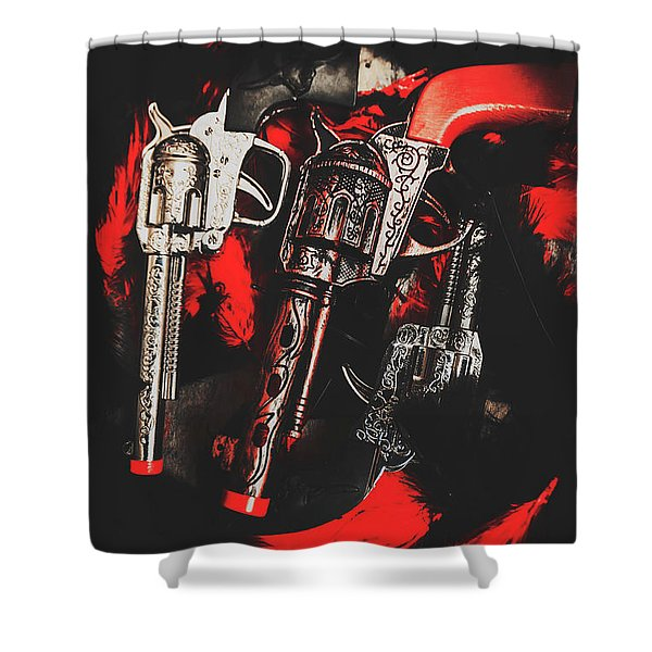 County Slingers  Shower Curtain