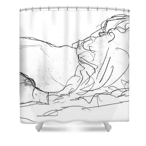 Couple In Bed Shower Curtain