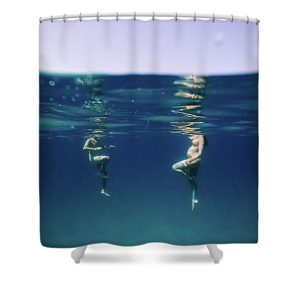Couple Of Three Shower Curtain