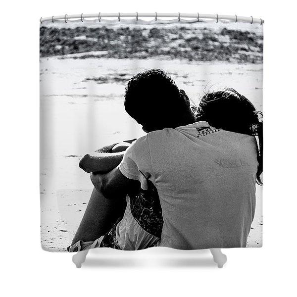 Couple On Beach Shower Curtain