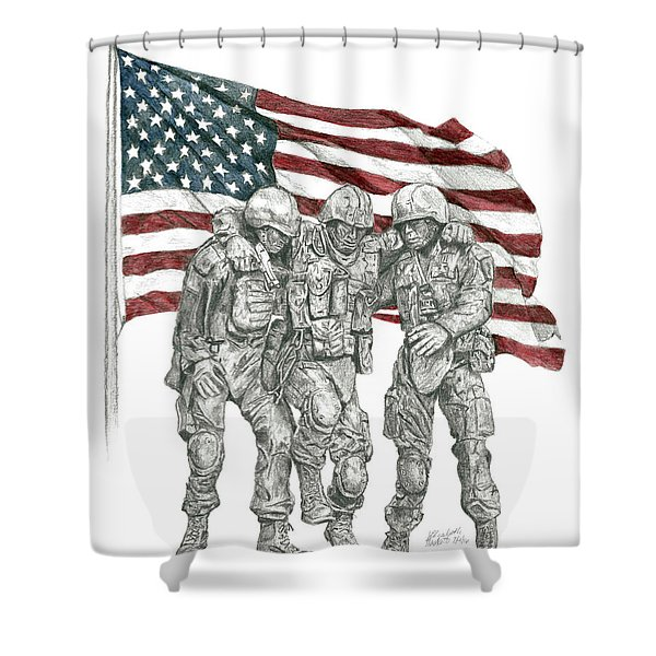 Courage In Brotherhood Shower Curtain