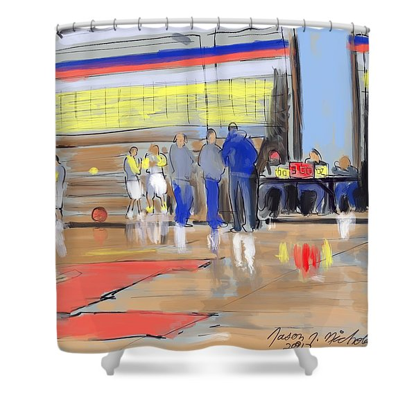 Court Side Conference Shower Curtain