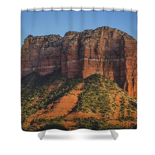 Courthouse Butte At Sunset Shower Curtain