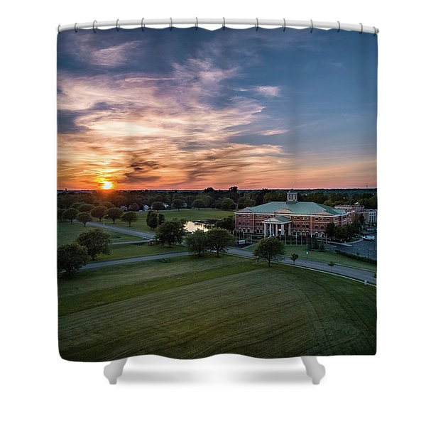 Courthouse Sunset Shower Curtain