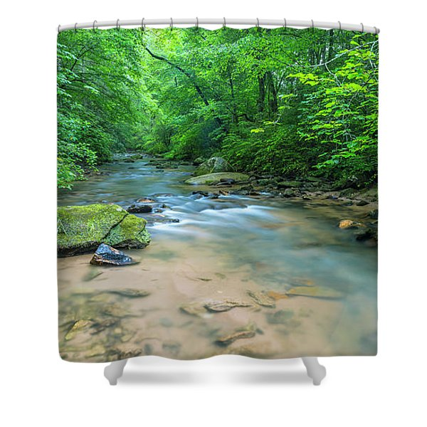 Shower Curtain featuring the photograph Cove Creek Panorama by Ranjay Mitra