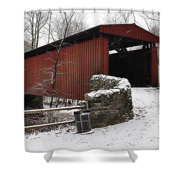 Covered Bridge Over The Wissahickon Creek Shower Curtain