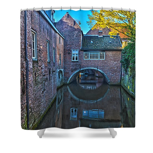 Covered Canal In Den Bosch Shower Curtain
