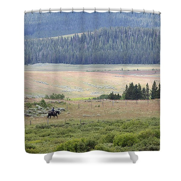 Cow Camp View Shower Curtain