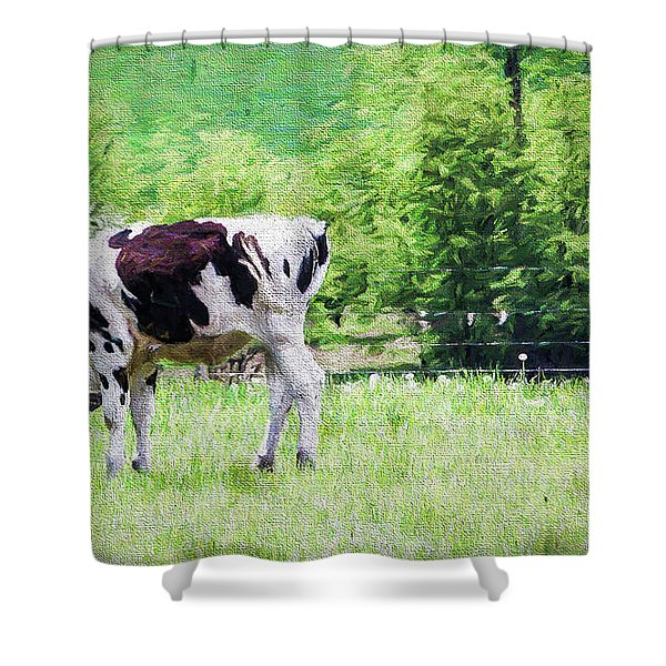 Cow Grazing Shower Curtain
