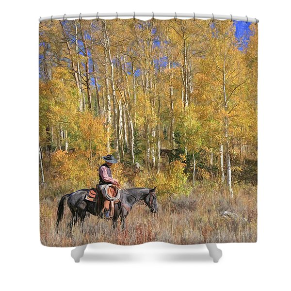 Cowboy At Work Shower Curtain