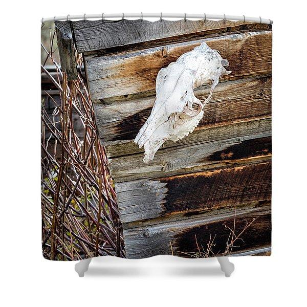 Cowboy Cabin Adornment Shower Curtain