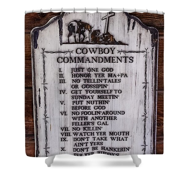 Cowboy Commandments Shower Curtain