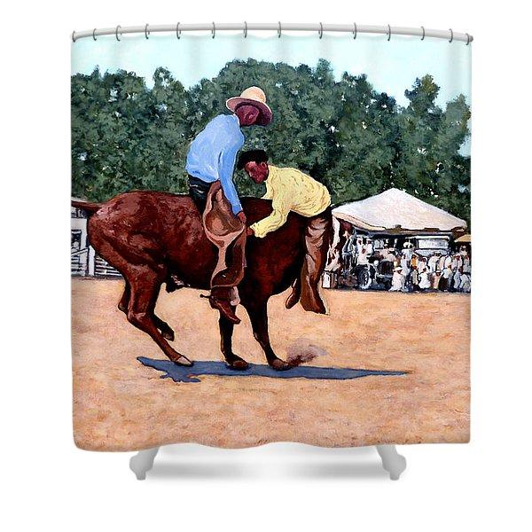 Cowboy Conundrum Shower Curtain