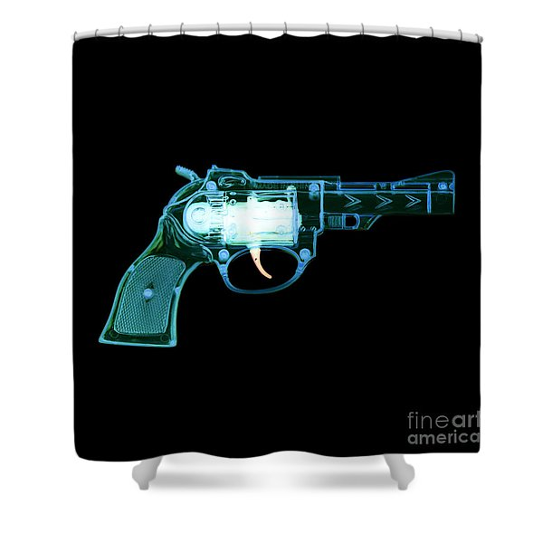Cowboy Gun 001 Shower Curtain