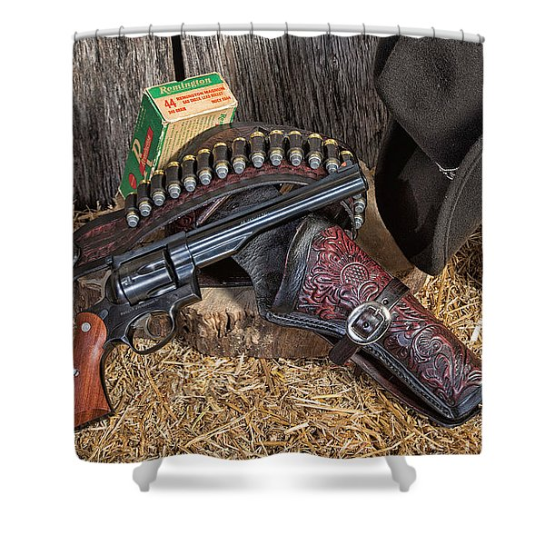 Cowboy Gunbelt Shower Curtain