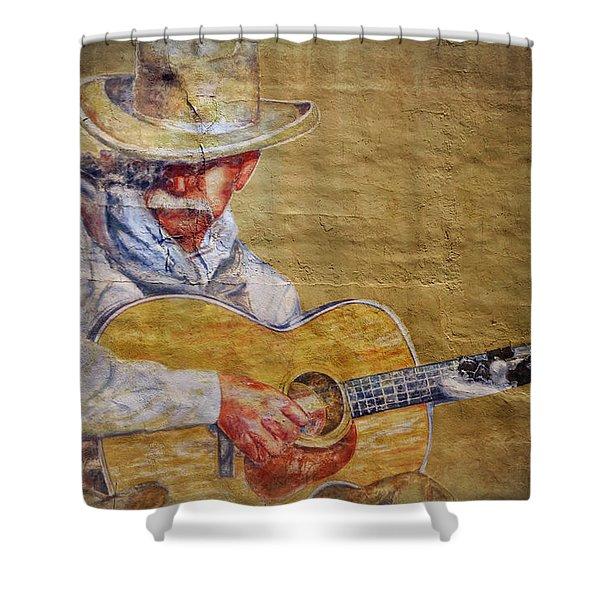 Cowboy Poet Shower Curtain
