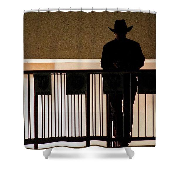 Cowboy Profile Shower Curtain