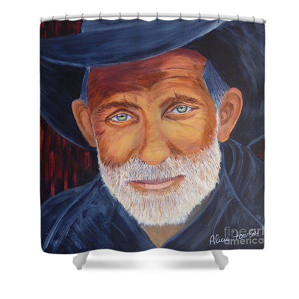 Cowboy Tex Shower Curtain