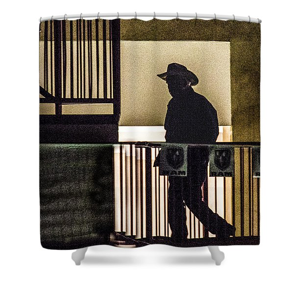 Cowboy Walking Shower Curtain