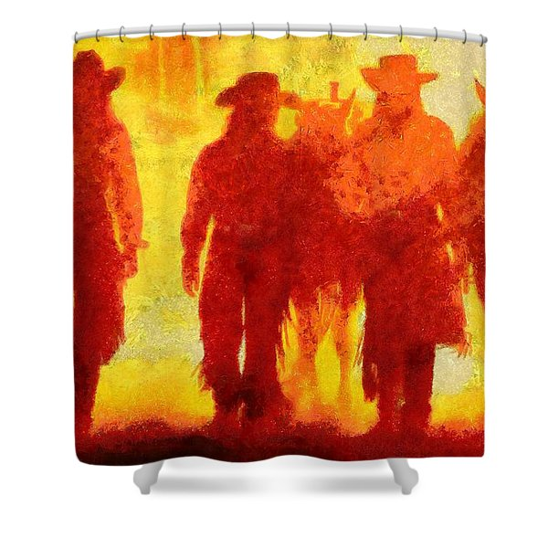 Cowpeople Shower Curtain