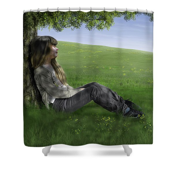 Cowslip Maiden Shower Curtain