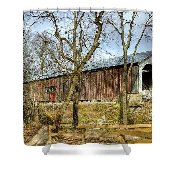 Cox Ford Covered Bridge Shower Curtain