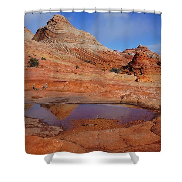 Coyote Butte Reflection Shower Curtain