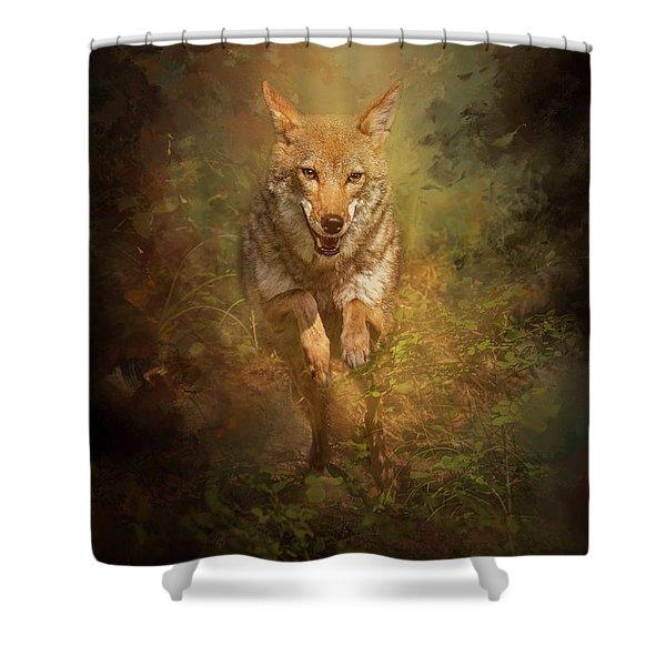 Coyote Energy Shower Curtain
