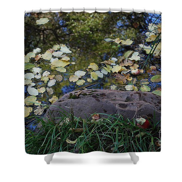 Crab Apple and Leaves Shower Curtain by Heather Kirk