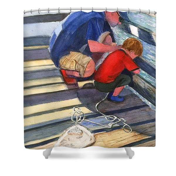 Crabbing Shower Curtain