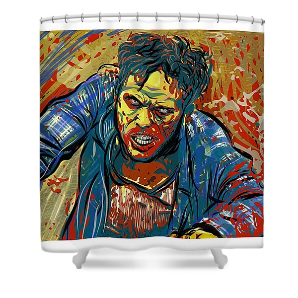 Shower Curtain featuring the digital art Crabby Joe by Antonio Romero
