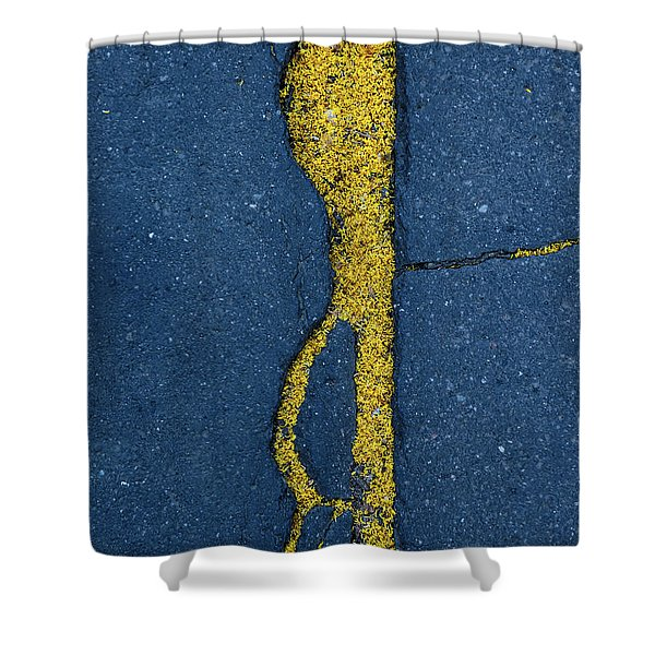 Cracked #3 Shower Curtain
