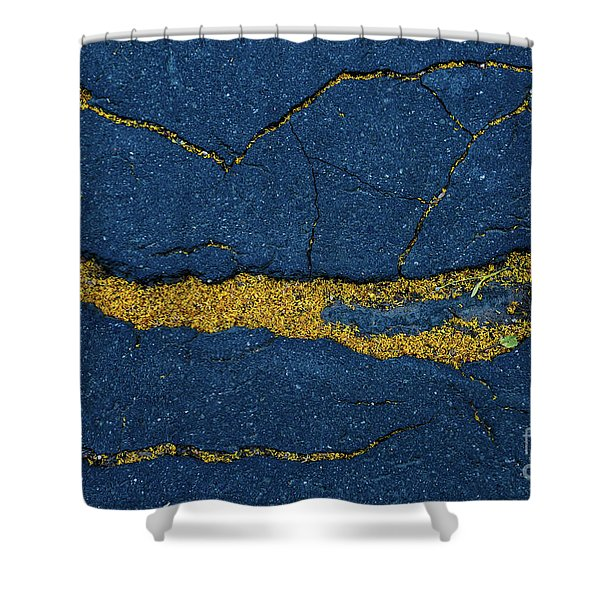 Cracked #6 Shower Curtain